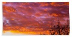 Beach Towel featuring the photograph Sunset 7 by Jean Bernard Roussilhe