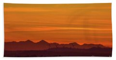 Sunset 8 Beach Towel
