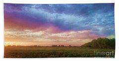 Sunset Across Cheshire Beach Sheet
