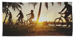Beach Towel featuring the photograph Sunset Adventures Along The River At Noosaville by Keiran Lusk