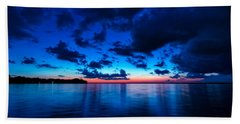 Beach Towel featuring the photograph Sunset After Glow by Christopher Holmes