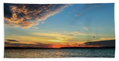Sunset And Clouds Beach Towel by Doug Long