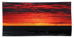Beach Towel featuring the photograph Sunset And Jetty by William Selander