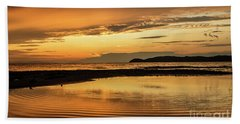 Sunset And Reflection Beach Sheet
