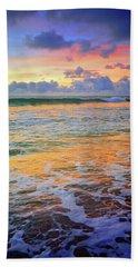 Beach Sheet featuring the photograph Sunset And Sea Foam by Tara Turner