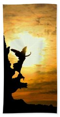 Sunset Angel Beach Towel