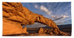 Beach Towel featuring the photograph Sunset Arch by Dustin LeFevre