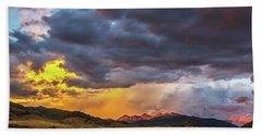 Sunset At Arapahoe Basin And Keystone Beach Sheet