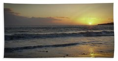Sunset At Barry Beach Towel