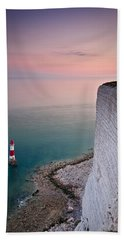 Sunset At Beachy Head Beach Towel