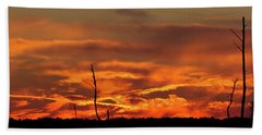 Sunset At Blackwater National Wildlife Refuge Beach Towel