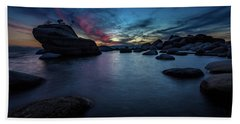 Sunset At Bonsai Rock Beach Towel