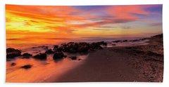 Sunset At Casperson Beach 2 Beach Sheet