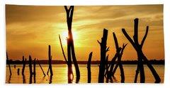 Sunset At Cedar Bluff -01 Beach Sheet