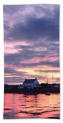 Sunset At Clachnaharry Beach Towel
