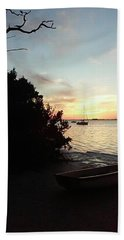 Sunset At Crystal Beach Beach Towel