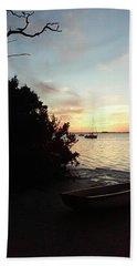Sunset At Crystal Beach Beach Towel