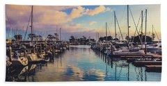 Sunset At Dana Point Harbor Beach Towel