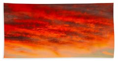 Sunset At Eaton Rapids 4826 Beach Towel