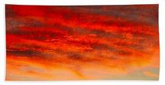 Sunset At Eaton Rapids 4826 Beach Sheet