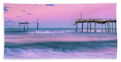 Beach Towel featuring the photograph Sunset At Frisco Fishing Pier Panorama by Ranjay Mitra