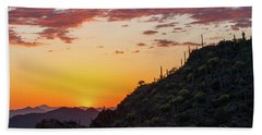 Sunset At Gate's Pass Beach Towel