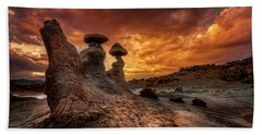 Sunset At Goblin Valley Beach Towel