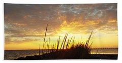Sunset At Goose Island, Tx Beach Towel