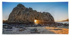 Sunset At Hole In The Rock Beach Towel by James Hammond
