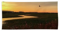 Sunset At Holkham Today  #landscape Beach Towel
