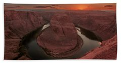 Sunset At Horseshoe Bend Beach Towel