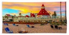 Sunset At Hotel Del Coronado Beach Sheet