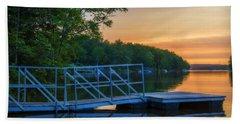 Sunset At Kearney Lake Beach Towel by Ken Morris