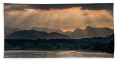 Sunset At Lake District Beach Towel
