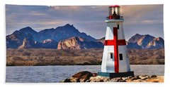 Sunset At Lake Havasu Beach Towel