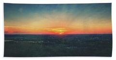 Beach Sheet featuring the photograph Sunset At Lapham Peak #3 - Wisconsin by Jennifer Rondinelli Reilly - Fine Art Photography