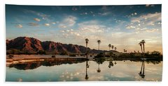 Sunset At Las Barancas Beach Towel