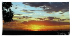 Sunset At Little River Victoria Beach Towel