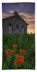 Sunset At Lower Fox Creek Schoolhouse Beach Towel