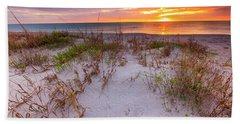 Sunset At Manisota Beach Beach Sheet