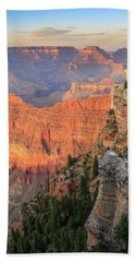 Sunset At Mather Point Beach Towel by David Chandler