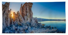 Beach Towel featuring the photograph Sunset At Mono Lake by Rikk Flohr