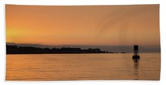 Sunset At Monterey Bay Beach Towel by Suzanne Luft