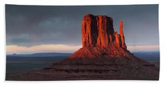 Sunset At Monument Valley Beach Towel
