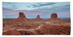 Sunset At Monument Valley No.1 Beach Sheet