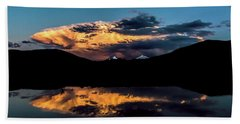 Sunset At Mount Guyot And Bald Mountain Beach Towel