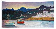 Sunset At Mykonos Beach Sheet