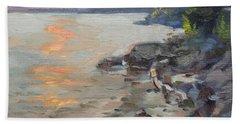 Sunset At Niagara River Beach Towel