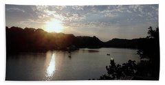 Sunset At Occoquan Beach Towel