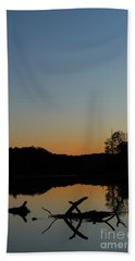 Sunset At Paulinskill Lake Beach Sheet by Nicki McManus
